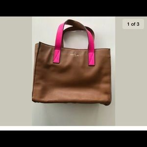 Pre owned late spade brown and hot pink tote